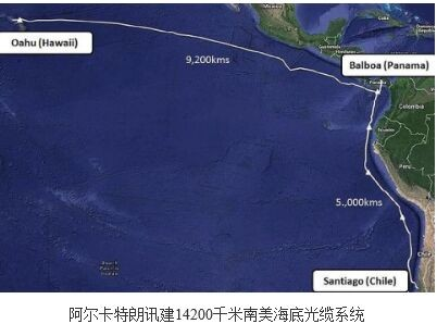 Alcatel-Lucent to build 14,200km submarine cable system in South America