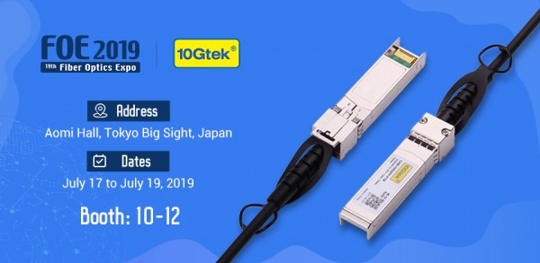 Sincerely invite you to visit us at FOE 2019 in Tokyo